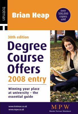 Degree Course Offers 2008: 2008 Entry