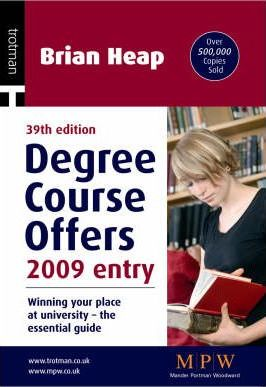Degree Course Offers 2009 Entry