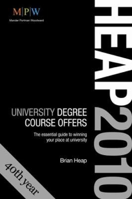 Degree Course Offers 2010 entry (HEAP 2010)