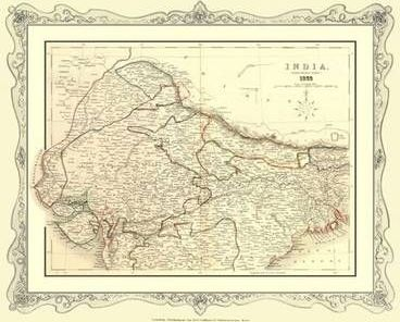 H Collins Map Of Northern India 1852 H Collins 9781844916887