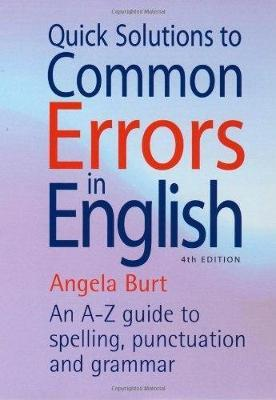 Quick Solutions To Common Errors In English 4th Edition Angela