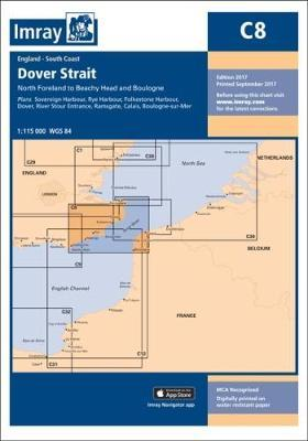 Imray Chart C8  Dover Strait - North Foreland to Beachy Head and Boulogne