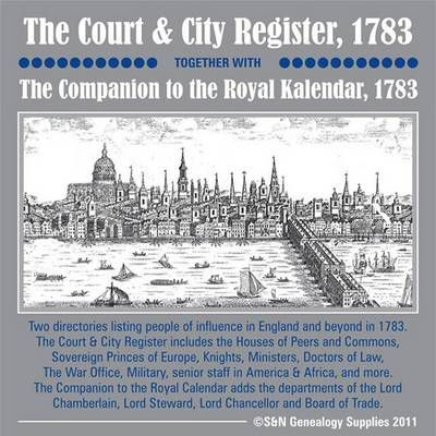 Court & City Register 1783 Together with The Companion to the Royal Kalendar