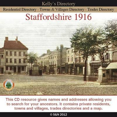 Staffordshire, Kelly's 1916 Directory