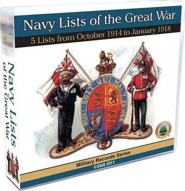 Navy Lists of the Great War - 1914 October to 1918 January