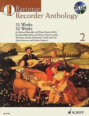 Baroque Recorder Anthology : 32 Works for Soprano Recorder and Piano (Guitar Ad Lib.)