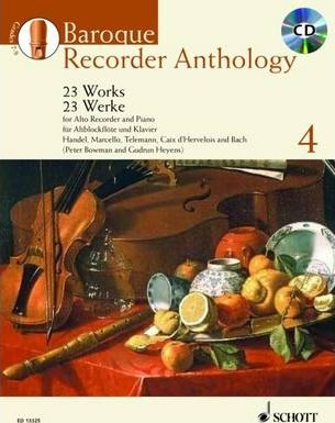 Baroque Recorder Anthology 4 : 23 Works for Alto Recorder and Piano with Piano Accompaniment