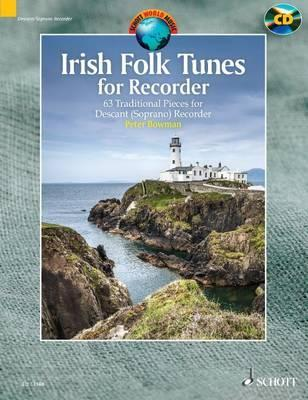 Irish Folk Tunes for Descant Recorder + CD  63 Traditional Pieces
