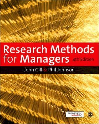 Research Methods for Managers Cover Image