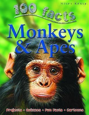 100 Facts Monkeys & Apes Cover Image