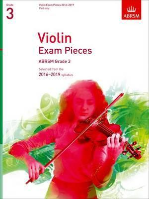 Violin Exam Pieces 2016-2019 Grade 3 Cover Image