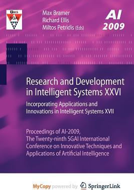 Research And Development In Intelligent Systems Xxvi Max Bramer 9781848829879
