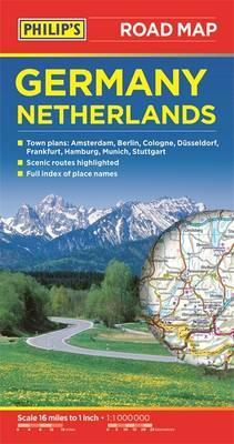 Map Of Germany And The Netherlands.Philip S Germany And Netherlands Road Map Philips 9781849073844