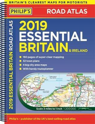 Map Of Ireland 32.Philip S 2019 Essential Road Atlas Britain And Ireland Spiral A4