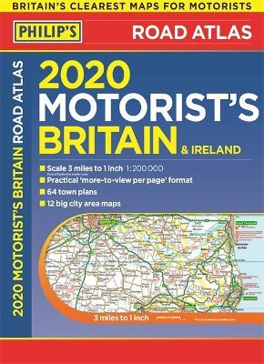 2020 Philip's Motorist's Road Atlas Britain and Ireland