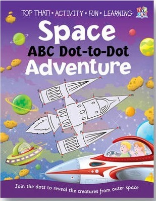 Space ABC Dot-to-dot Adventure Cover Image