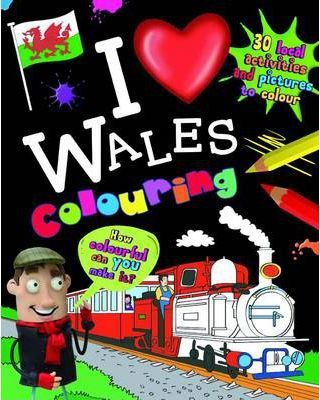 I Love Wales Colouring