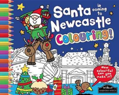 Santa is Coming to Newcastle Colouring