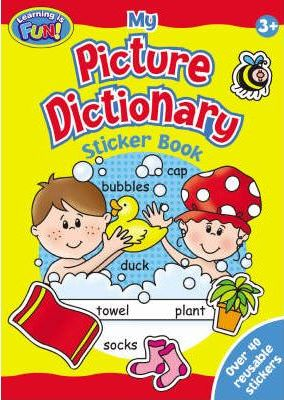 "Picture Dictionary Sticker Book (2 Titles): ""Out and About"" , ""At Home"""