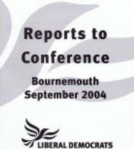 Reports to Conference