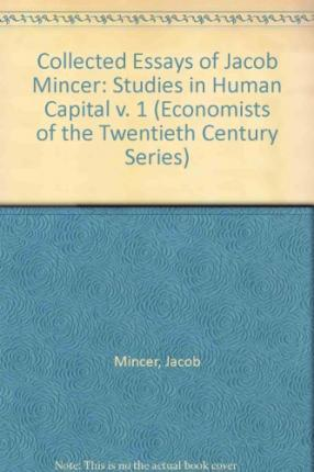 Jacob mincer investment in human capital and personal income distribution codificacao juridica investments