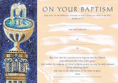 Baptism Certificates Traditional (pack of 20)