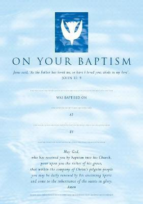 Baptism Certificates Contemporary (pack of 20)