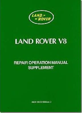 Land Rover V8 Repair Operation Manual Supplement Cover Image
