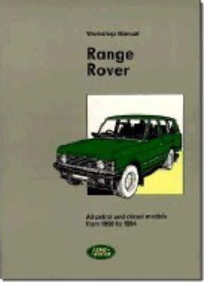 range rover workshop manual 1990 94 bentley publishers rh bookdepository com Land Rover Manual Transmission Land Rover Disovery Manual
