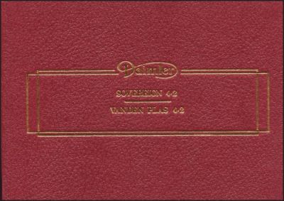 Daimler Sovereign Series 3 Official Owner's Handbook AKM4174/2