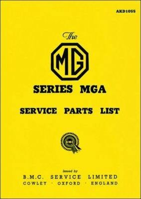 MG MGA 1500 Service Parts List
