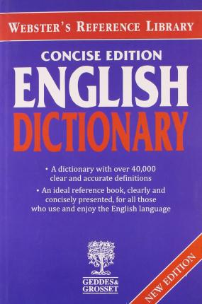 Websters Concise English Dictionary