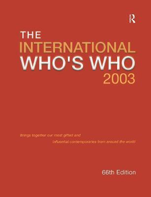 International Who's Who 2003