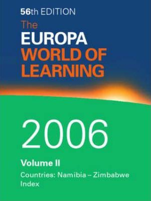 The The World of Learning 2006: v. 2