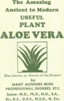 Amazing Ancient to Modern Useful Plant Aloe-Vera