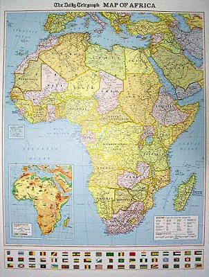 """The """"Daily Telegraph"""" Africa Political Wall Map"""