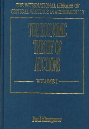 The Economic Theory Of Auctions Paul Klemperer 9781858988702