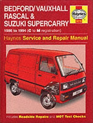 bedford vauxhall rascal and suzuki supercarry service and repair rh bookdepository com Suzuki Utility Vehicle Suzuki Multicab Van Philippines