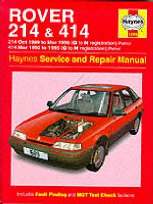 Rover 214 and 414 (89-96) Service and Repair Manual