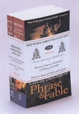 """Brewer's Christmas Gift Set: """"Brewer's Concise Dictionary of Phrase and Fable"""", """"Brewer's Book of Myth and Legend"""""""