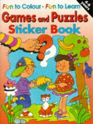 Games and Puzzles Sticker Book