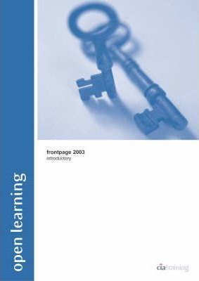 Open Learning Guide for FrontPage 2003 Introductory