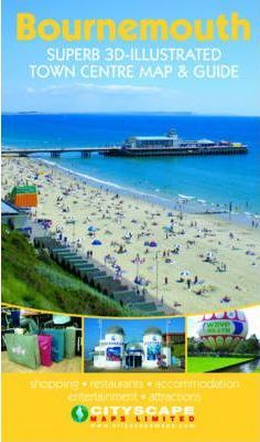 Bournemouth Superb 3D Illustrated Town Centre Map and Guide
