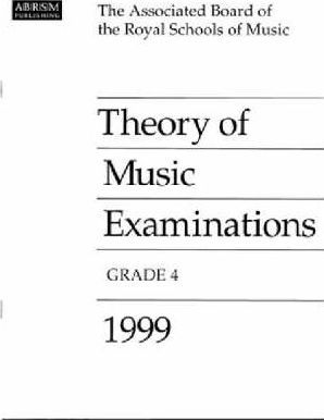 Theory of Music Examinations 1999: Grade 4
