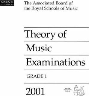 Theory of Music Examinations 2001: Grade 1