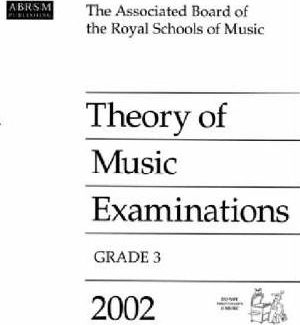 Theory of Music Examinations 2002: Grade 3