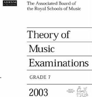 Theory of Music Examinations 2003: Grade 7