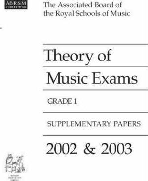 Theory of Music Examinations 2002-2003: Grade 1