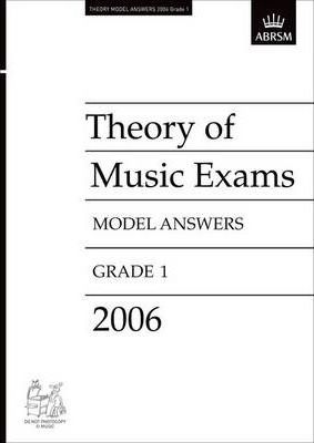 Theory of Music Exams Model Answers 2006: Grade 1