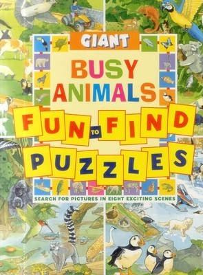 giant fun to find puzzles busy animals peter rutherford